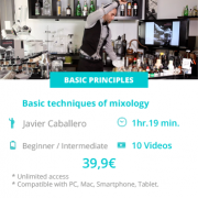 Basics techniques of mixology